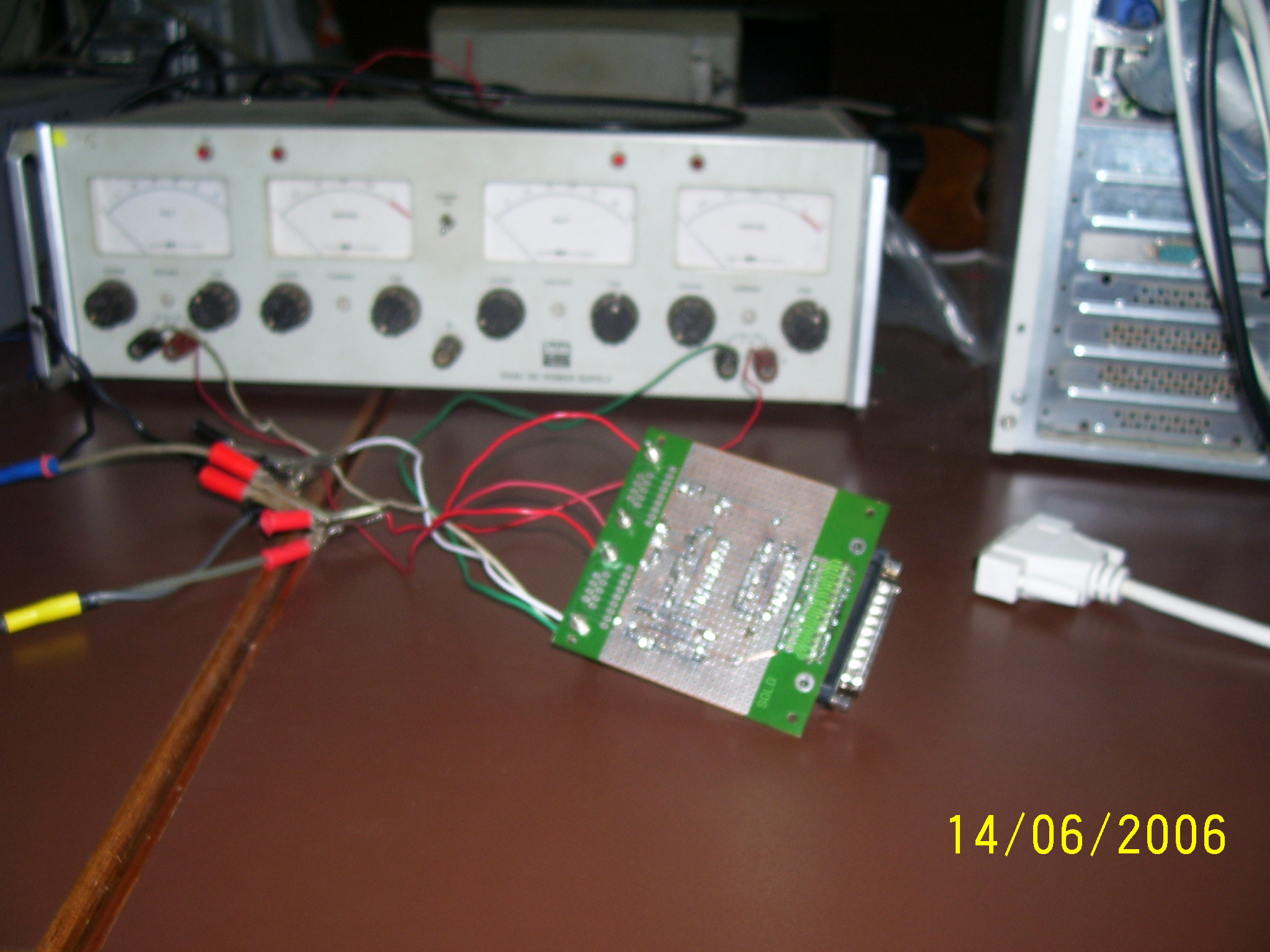 Our Circuit connected to the power supply